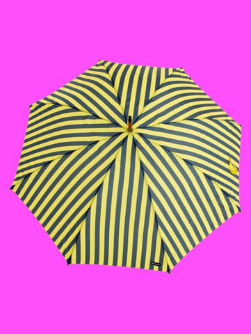 Yellow Pinstripe Umbrella