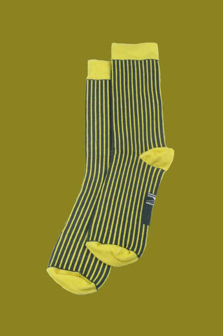 Yellow Pinstripe Socks