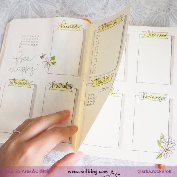 Cinco Estructuras Semanales para Bullet Journal