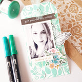 2 ideas de Tags de Scrapbooking con Texturas