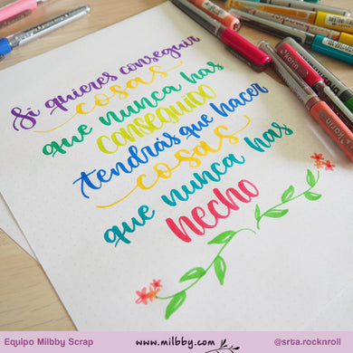 Lettering con los Rotuladores Karin Brushmarker Pro
