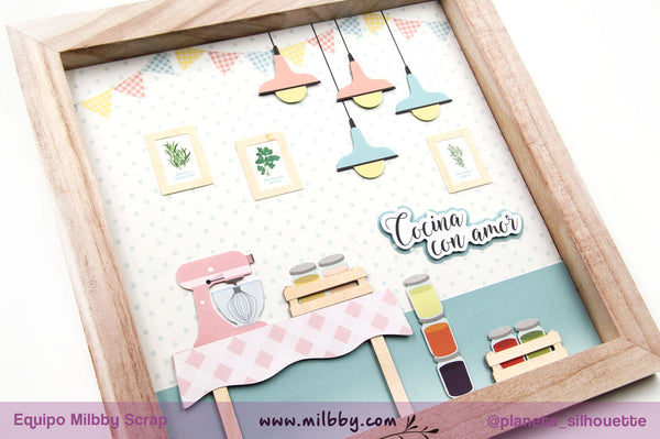 cuadro decorativo scrapbooking ideas home decor