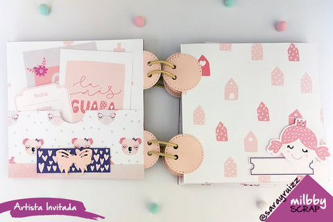 tutorial mini album scrapbooking milbby