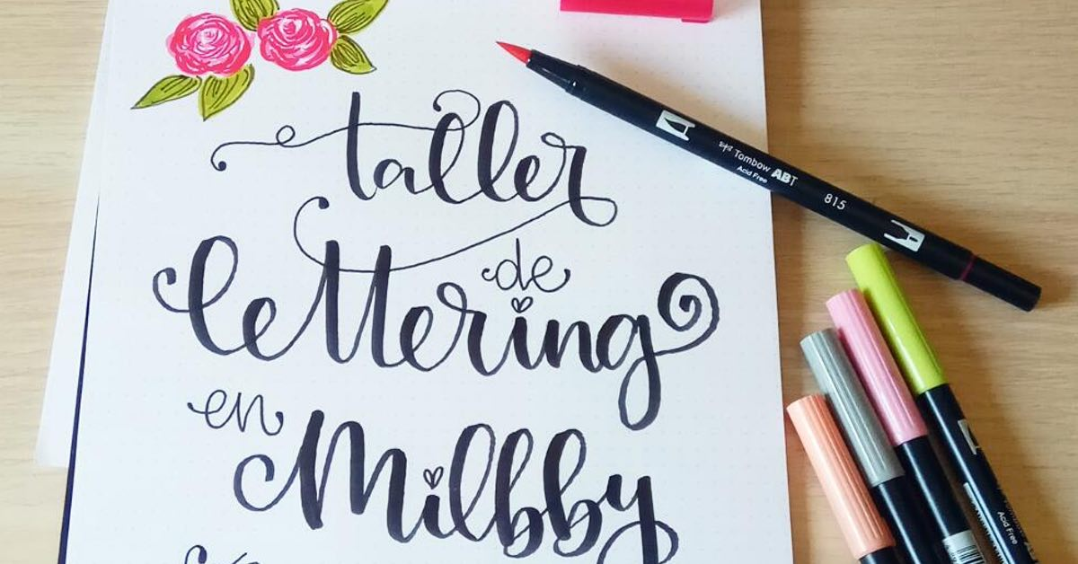 curso lettering milbby