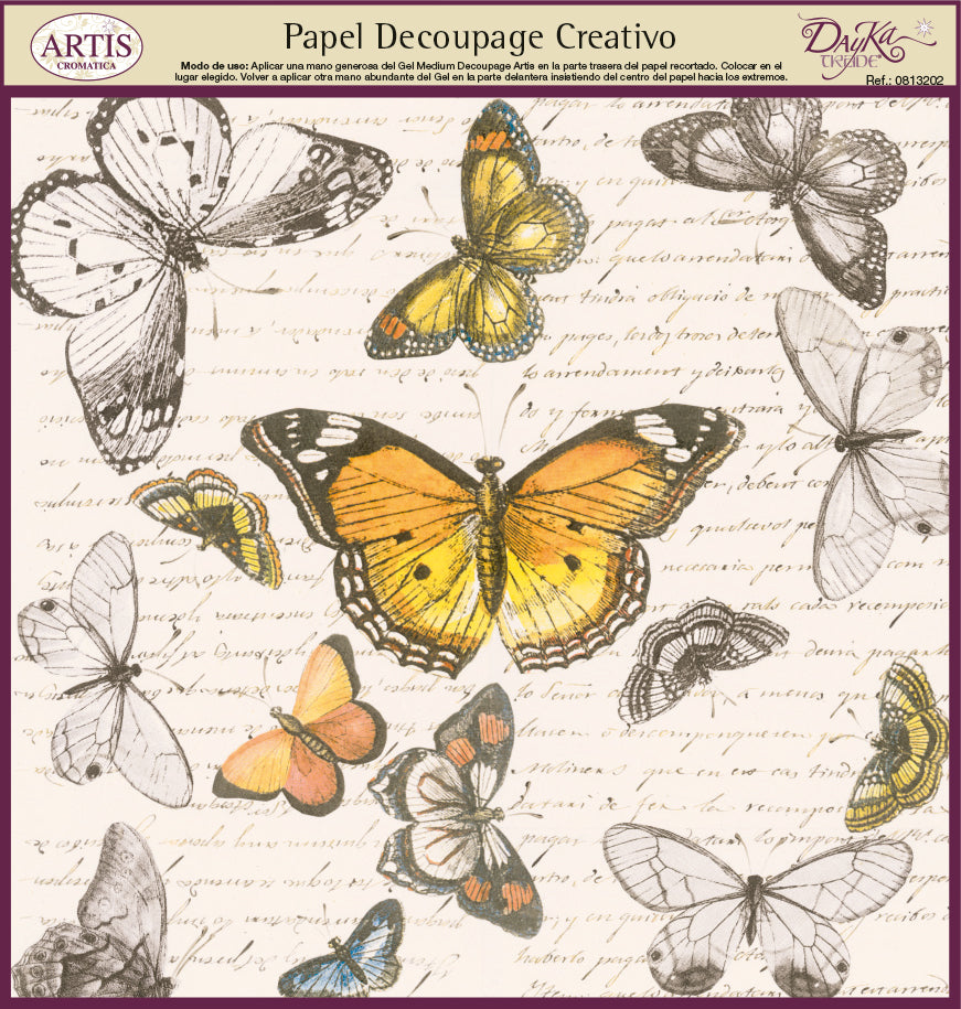 Papel Decoupage Mariposas - 0813202