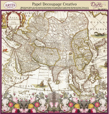 Papeles Decoupage Mapa Color - 0813217