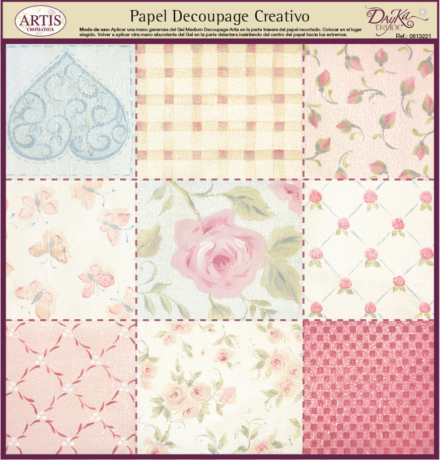 Papeles Decoupage Pachtwork colores - 0813221