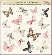 Papeles Decoupage Mariposas De Colores - 0813393