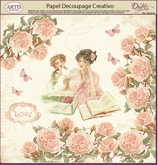Papeles Decoupage Reading Love - 0813398