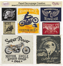 Papeles Decoupage Road Race - 0813416