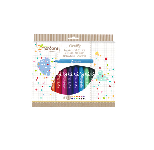 Pack Rotuladores Colores Avenue Mandarine 12uds