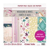 "Set Papeles Scrap ""Woodland & Wings"" 12x12"" CRAFT SMITH"