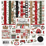"Set Papeles Scrap Farmhouse Christmas 12x12"" CARTA BELLA"