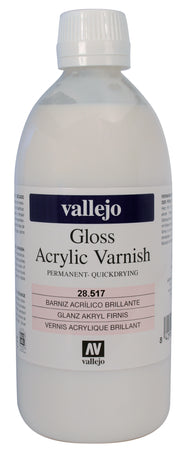 Barniz Acrílico Permanente Brillante 500ml Vallejo