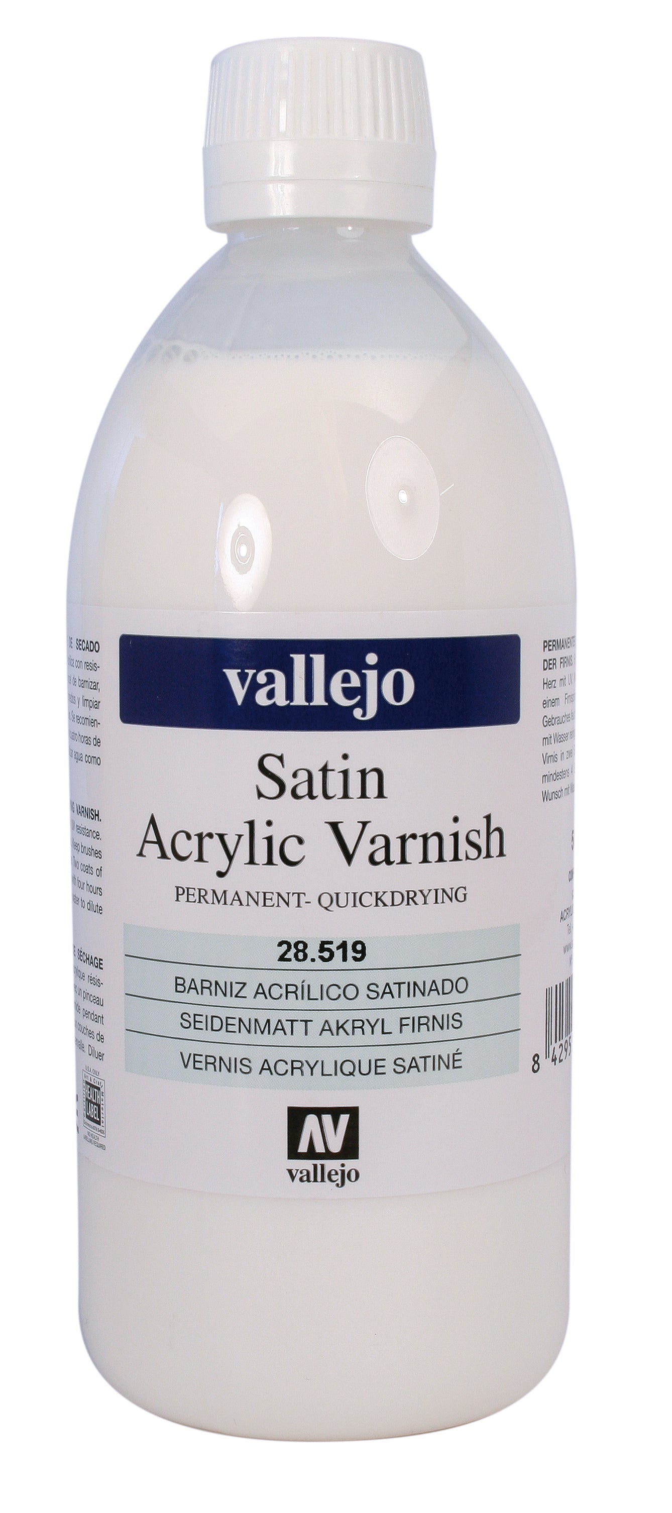 Barniz Acrílico Permanente Satinado 500ml Vallejo
