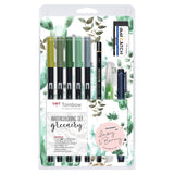 Set Lettering TOMBOW Greenery
