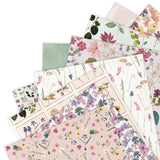 "Set Papeles Scrap ""Pressed Flowers"" 12x12"" PAPERMANIA"