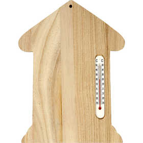 Thermometer House, 23,5X16,5Cm, 1 Pc,
