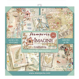 "Set Papeles Scrap ""Imagine"" 12x12"" 10 Hojas STAMPERIA"