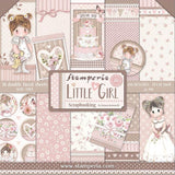 "Set Papeles Scrap ""Little Girl"" 12x12"" 10 Hojas STAMPERIA"