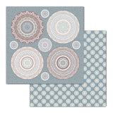 "Set Papeles Scrap ""Secrets of India"" 12x12"" 10 Hojas STAMPERIA"