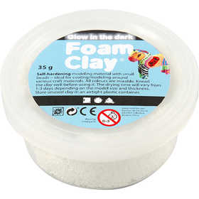 Pasta de Modelar Glow In The Dark 35gr Foam Clay