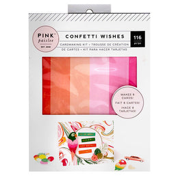 Kit para hacer Tarjetas Colección Confetti Wishes Pink Paislee