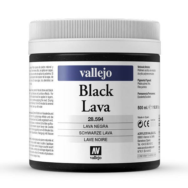 Lava Negra 500ml Vallejo