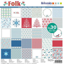 Set Papeles Scrap 'Folk' 12x12' Artemio