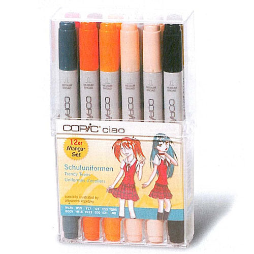 Set 12 Rotuladores Trendy Teens Copic Ciao