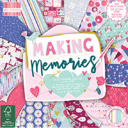 "Set Papeles Scrap 'Making Memories' 6x6"" First Edition Paper"
