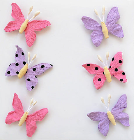 Adornos de Papel Mariposas Mulberry Blush
