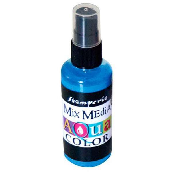 Aquacolor Spray Azul Claro 60ml Stamperia
