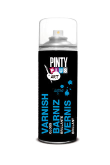 Barniz en Spray Base Agua Brillo 520cc Pintyplus