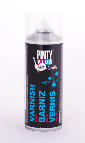 Barniz en Spray Base Agua Mate 520cc Pintyplus
