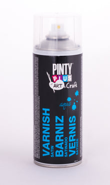 Barniz en Spray Base Agua Satinado 520cc Pintyplus