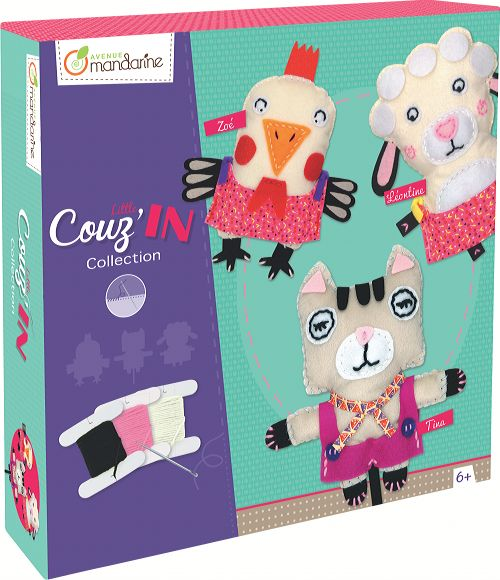 Caja Creativa Little Couz'In Animales Para Bordar Avenue Mandarine