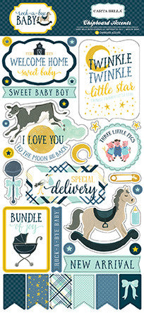 Chipboard Baby Boy Carta Bella
