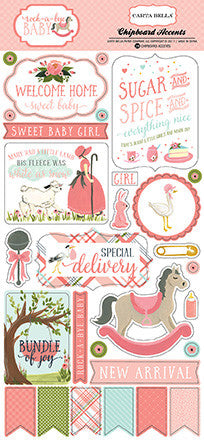 Chipboard Baby Girl Carta Bella