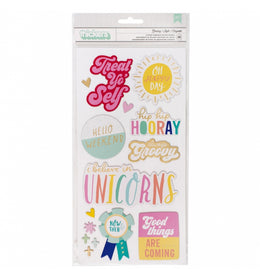 Chipboard Stickers Frases Stay Colorful Dear Lizzy