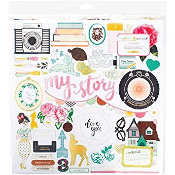 "Chipboards Stickers True Story 12x12"" American Crafts"