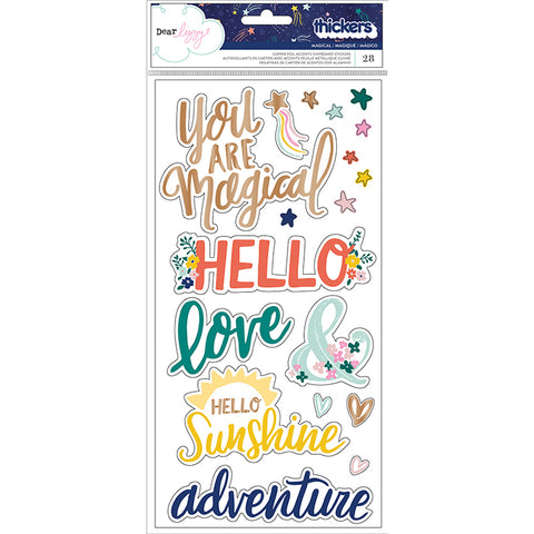 Chipboard Stickers Frases Star Gazer Dear Lizzy