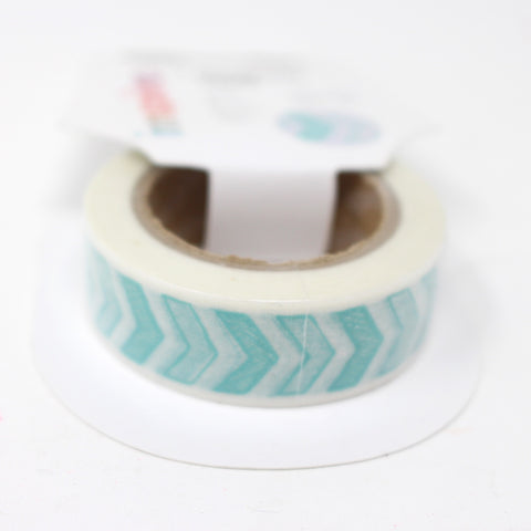 Cinta Washi Tape Flechas Azules 15mm x 10m