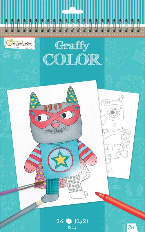 Cuaderno para Colorear Designs Graffy Color Avenue Mandarine