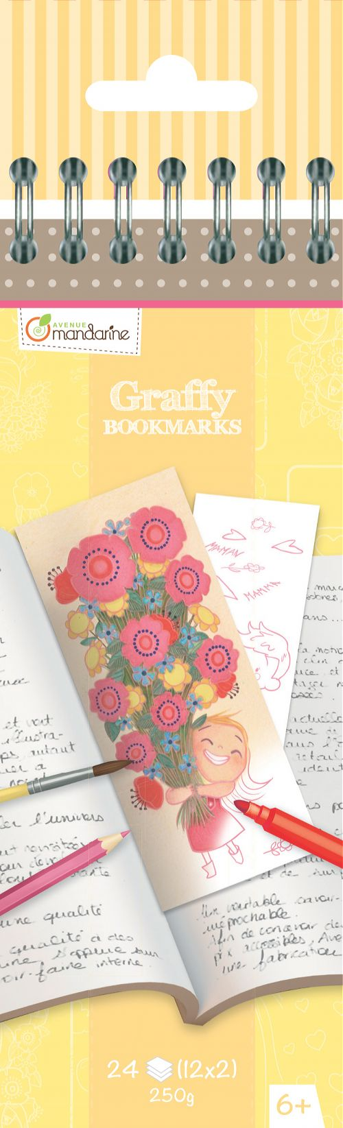 Marcapáginas para Colorear 'Madre' Graffy Bookmark Avenue Mandarine