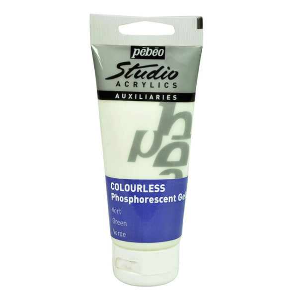 Gel Fosforescente Verde No Teñido 100ml Pebeo
