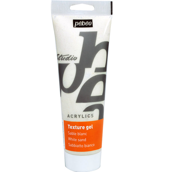 Gel Textura Arena Blanco 250ml Pebeo