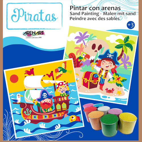 Kit Pintar con Arenas de Colores 'Piratas' ARENART