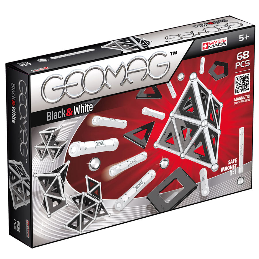 Kit Magnetismo Panels 'Black & White' GEOMAG 68 piezas