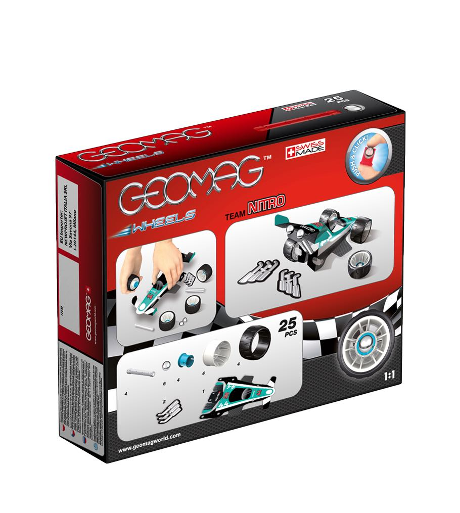 Kit Magnetismo Wheels Team Nitro GEOMAG 25 piezas